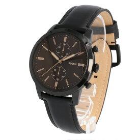 FOSSIL / フォッシル FS5585 Townsman タウンズマン 腕時計 メンズ クロノグラフ レザー ブラック 【あす楽対応_東海】
