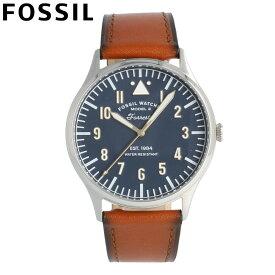 FOSSIL フォッシル 腕時計 時計 メンズ 男性 アナログ クオーツ 電池 3針 シンプル 日付 ヴィンテージ FORRESTER フォレスター カジュアル ビジネス 仕事 防水 レザー 革 ブラウン 茶 シルバー 銀 ブルー 青 FS5611 プレゼント ギフト 1年保証 送料無料