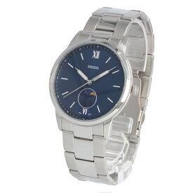 FOSSIL / フォッシル FS5618 The Minimalist ミニマリスト ムーンフェイズ 腕時計 メンズ ステンレス シルバー ブルー 【あす楽対応_東海】