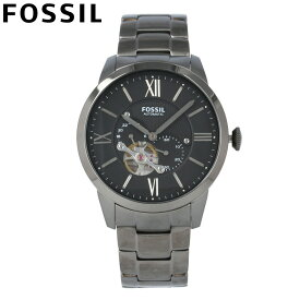 FOSSIL フォッシル 腕時計 時計 メンズ 男性 アナログ 機械式 自動巻き オートマティック メカニカル 3針 スモールセコンド TOWNSMAN タウンズマン カジュアル ビジネス 仕事 防水 ステンレス ブレス ブラック 黒 ME3172 プレゼント ギフト 1年保証 送料無料