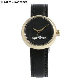 THE MARC JACOBS / ザ マークジェイコブス MJ0120179282 ザ ラウンドウォッチ 腕時計 レディース レザー ブラック ローズゴールド 母の日 【あす楽対応_東海】