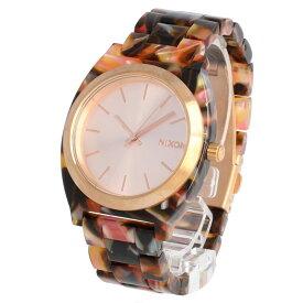 NIXON / ニクソン A3273233 Time Teller Acetate タイムテラー アセテート 腕時計 レディース Pink Tortoise ピンクトートイズ ローズゴールド 【あす楽対応_東海】