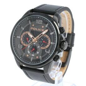 POLICE / ポリス PL.15658JSB/02 Durdle ダードル 腕時計 メンズ レザー ブラック マルチファンクション 【あす楽対応_東海】