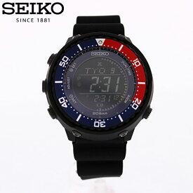 SEIKO セイコー PROSPEX プロスペックス 腕時計 時計 メンズ アナログ ソーラー フィールドマスター スポーツ カジュアル アウトドア 防水 ラバー ウレタン ブラック 黒 ブルー 青 レッド 赤 ペプシ SBEP003 プレゼント ギフト 1年保証 送料無料