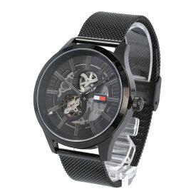 TOMMY HILFIGER / トミーヒルフィガー 1791644 Spencer スペンサー 自動巻き 腕時計 メンズ メッシュベルト ブラック 【あす楽対応_東海】