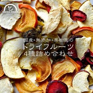 ドライフルーツ ミックス 砂糖不使用 無添加 120g 国産 みかん イチゴ キウイ 梨 りんご 柿 送料無料 有機栽培 減農薬 農家直送 果物チップ りんごチップ みかんチップ 梨チップ 柿チップ フル