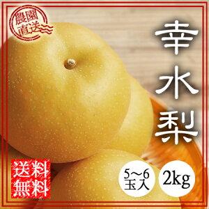 幸水 梨 送料無料 2kg 贈答 ギフト 夏の梨 和梨 なし ナシ くだもの 三重県 工藤果樹園