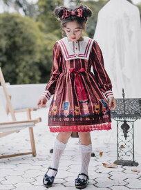 Lolita系 2点セット ハロウィン クリスマス キッズ 女児 コスチューム 子供 衣装 ドレス アリス ハロウィン仮装 衣装 子供ドレス 子供 ワンピース 可愛い