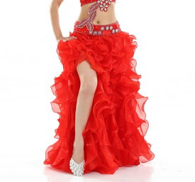 14color 社交ダンス ベリーダンス スカート フリンジ スパンコール クラーデション レディース 舞台風 演出 カラースカート