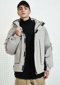 送料無料!秋冬モデル ダウンジャケット コート/メンズ ジャケット ジャケット 無地 欧米風 長袖 コート トップス メンズウェア 大きいサイズ 防風 防寒 プルオーバー ダウン入る ダウン76%-80% ゆったり 体型カバー 男性 ショット丈 クルーネック カジュアル