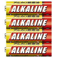 三菱 単3 アルカリ乾電池 4本パック LR6R/4S