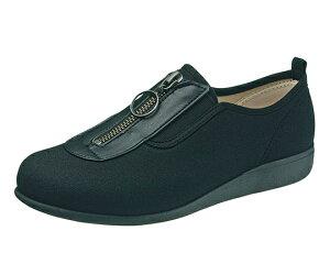 リハビリシューズ 介護靴 快歩主義 L117 ブラック 21.5cm KS23313 4963507180063