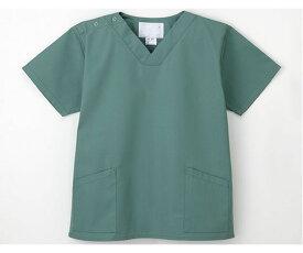 手術衣 (男女兼用上衣) グリーン LL 4545516025520