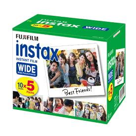 フジフィルム FUJI FILM インスタントフィルムinstax WIDE ワイド用フィルム 5本パック(50枚入り)ワイドフィルム INSTAX WIDE K R 5