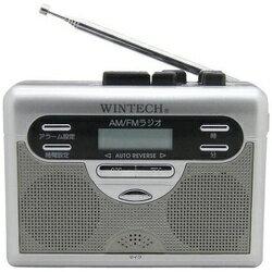 WINTECH ウインテック AM・FMラジオ付テープレコーダー PCT-11R カセットレコーダー