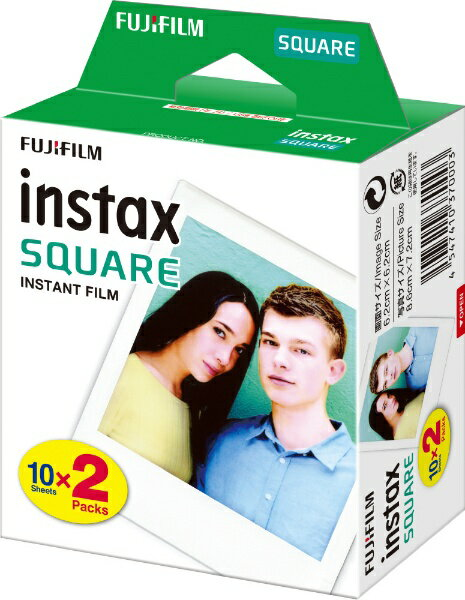 富士フィルム チェキスクエア用フィルム100枚 インスタントカラーフィルム instax SQUARE 20枚パックx5 4547410370003