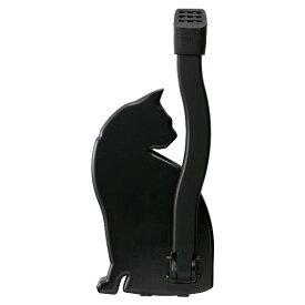 スマイルキッズ ドアストッパーねこ ブラック SMILE KIDS AKS-05BK マグネット式ネコ型ドアストッパー 片足で上げ下げラクラク!使わない時は上げて固定