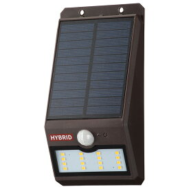 OHM オーム電機 ソーラーセンサーウォールライト400lm 常夜灯付 ブラウン LS-SHB140FN4-T