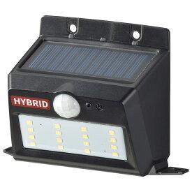 OHM オーム電機 ソーラー&乾電池センサーウォールライト 400lm 置型ブラック LS-SHB140PN4-K