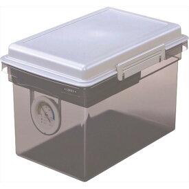ナカバヤシ キャパティ ドライボックス 容量8L グレー Nakabayashi DB-8L-N コンパクトでも中身充実!スタッキングも可能!簡易湿度計・小物トレー・乾燥剤付き