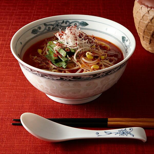 象嵌唐草麺鉢 中華食器 アジアン食器 ラーメン丼 うどん そば 日本製 業務用 57-ZOK6CB