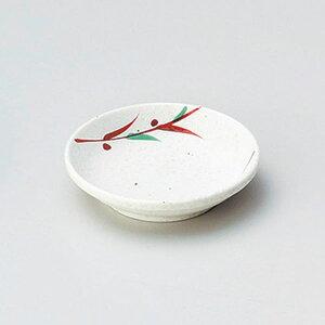 赤絵笹2.8小皿 9cm 和食器 小皿 日本製 美濃焼 業務用 取り皿 豆皿 プチ皿 プレート デザート皿 しょうゆ皿 スパイス皿 和皿 和食屋 レストラン 取り皿 プレート 27-225-317-ya