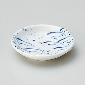玉渕吹波2.8皿 9cm 和食器 小皿 日本製 美濃焼 業務用 取り皿 豆皿 プチ皿 プレート デザート皿 しょうゆ皿 スパイス皿 和皿 和食屋 レストラン 取り皿 プレート 27-227-427-to