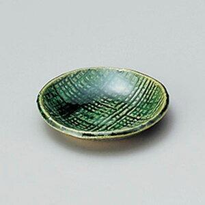 織部豆皿 7cm 和食器 小皿 日本製 美濃焼 業務用 取り皿 豆皿 プチ皿 プレート デザート皿 しょうゆ皿 スパイス皿 和皿 和食屋 レストラン 取り皿 プレート 27-227-597-i