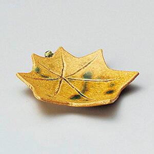 黄瀬戸紅葉皿 10cm 和食器 小皿 日本製 美濃焼 業務用 取り皿 豆皿 プチ皿 プレート デザート皿 しょうゆ皿 スパイス皿 和皿 和食屋 レストラン 取り皿 プレート 27-224-177-i