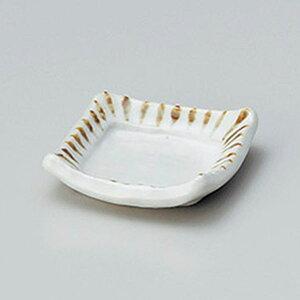 さび十草ミニ角小皿 7cm 和食器 小皿 日本製 美濃焼 業務用 取り皿 豆皿 プチ皿 プレート デザート皿 しょうゆ皿 スパイス皿 和皿 和食屋 レストラン 取り皿 プレート 27-227-657-to