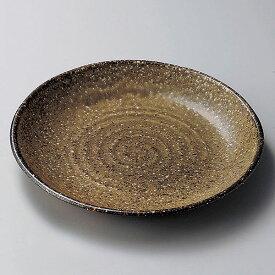 鉄信楽六兵衛8.0皿 23cm 和食器 丸中皿 日本製 美濃焼 業務用 27-204-207-ka