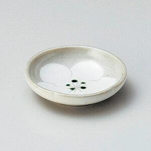粉引梅小皿 10cm 和食器 小皿 日本製 美濃焼 業務用 取り皿 豆皿 プチ皿 プレート デザート皿 しょうゆ皿 スパイス皿 和皿 和食屋 レストラン 取り皿 プレート 27-224-247-ho