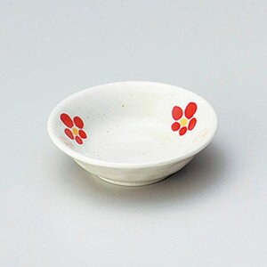 赤絵梅3.0深皿 9cm 和食器 小皿 日本製 美濃焼 業務用 取り皿 豆皿 プチ皿 プレート デザート皿 しょうゆ皿 スパイス皿 和皿 和食屋 レストラン 取り皿 プレート 27-225-447-te