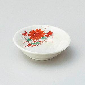 赤絵菊3.0深皿 9cm 和食器 小皿 日本製 美濃焼 業務用 取り皿 豆皿 プチ皿 プレート デザート皿 しょうゆ皿 スパイス皿 和皿 和食屋 レストラン 取り皿 プレート 27-226-137-te