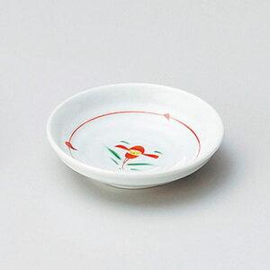 赤絵小花3.0皿 10cm 和食器 小皿 日本製 美濃焼 業務用 取り皿 豆皿 プチ皿 プレート デザート皿 しょうゆ皿 スパイス皿 和皿 和食屋 レストラン 取り皿 プレート 27-226-107-ho