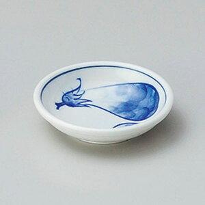 ナス厚口3.0皿 9cm 和食器 小皿 日本製 美濃焼 業務用 取り皿 豆皿 プチ皿 プレート デザート皿 しょうゆ皿 スパイス皿 和皿 和食屋 レストラン 取り皿 プレート 27-226-387-chi