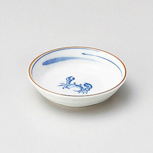 カニ反3.3深皿 10cm 和食器 小皿 日本製 美濃焼 業務用 取り皿 豆皿 プチ皿 プレート デザート皿 しょうゆ皿 スパイス皿 和皿 和食屋 レストラン 取り皿 プレート 27-226-377-te