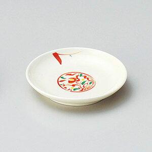 赤絵みのり3.0皿 10cm 和食器 小皿 取り皿 プレート 日本製 美濃焼 強化 業務用 取り皿 豆皿 プチ皿 プレート デザート皿 しょうゆ皿 スパイス皿 和皿 和食屋 レストラン 27-224-227-ho