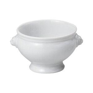 白ライオントリュフM 13cm 洋食器 オーブンウェア グラタン 日本製 美濃焼 業務用 オーブンOK 白いスープボウル トリュフボウル 国産 産地直送 うつわ 器 27-617-027-ka