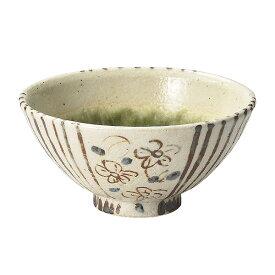 織部間取花和茶碗 和食器 飯器 飯碗 日本製 業務用 茶碗 飯碗 お茶碗 御飯茶碗 ご飯茶碗 おちゃわん 可愛いおちゃわん 夫婦茶碗 カラフル ライスボウル おしゃれ 日本製 茶碗 27-354-067-ka