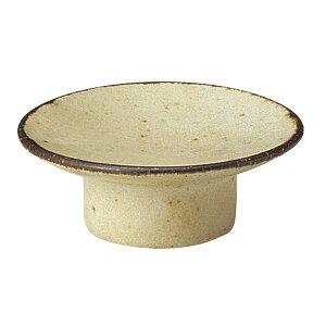 くつろぎ 粉引 8cmマカロン皿 8cm 和食器 小皿 おしゃれ カフェ 和風 日本製 美濃焼 業務用 27-540-047-i