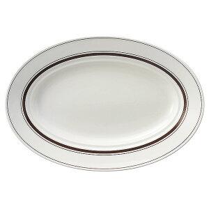 カントリーサイド ダークブラウン 32.5cm プラター 洋食器 変形プレート 25cm以上 日本製 美濃焼 業務用 おしゃれ 皿 お皿 かわいい ワンプレート パスタ皿 大皿 中皿 オードブル皿 カフェ風 cafe