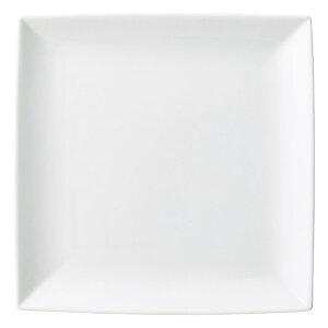 白磁 浜付 中皿 20cm 洋食器 角型プレート 15cm〜25cm 日本製 美濃焼 角皿 カフェ食器 白い食器 おしゃれ 業務用 角皿 プレート 皿 おしゃれ かわいい お皿 四角 ケーキ皿 27-501-047-ka