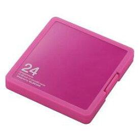 エレコム CMC-SDCPP24PN(ピンク) SD/microSDカードケース プラスチックタイプ