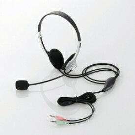 エレコム HS-HP22SV 両耳小型オーバーヘッドタイプ ヘッドセット