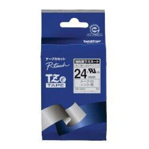 ピータッチ 強粘着ラミネートテープ 白ラベル TZe-S251 [黒文字 24mm×8m]
