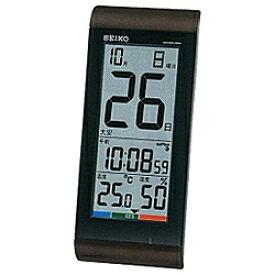 fa542bf935 セイコー SQ431B 温湿度計付き 電波置時計 置き掛け兼用 デジタル SQ431Bポータブル 熱中症