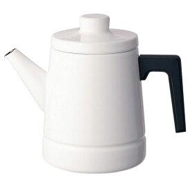 富士ホーロー ソリッド IH対応 コーヒーポット 1.6L SD-1.6CP・W(ホワイト)