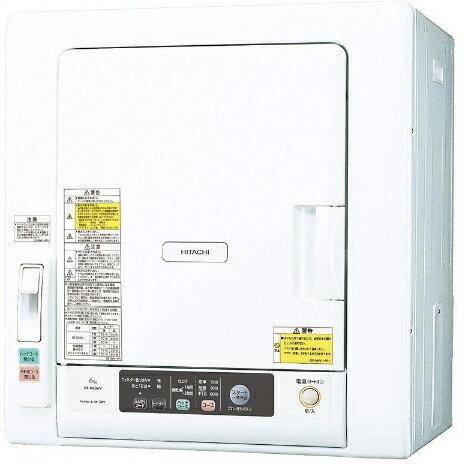 【設置】日立 DE-N60WV-W(ピュアホワイト) 衣類乾燥機 6kg