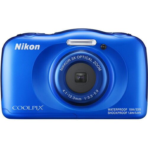 ニコン Nikon COOLPIX W100 ブルー コンパクトデジタルカメラ SnapBridge/有効画素数約1317万画素/防水10m/耐衝撃性能1.8m